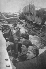 Vasily Chuikov in an observation post in Stalingrad, Russia, late 1942 to early 1943