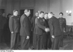 Vasily Chuikov, Otto Grotewohl, Max Fechner at the founding of East Germany, Berlin, 7 Oct 1949