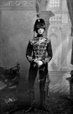 Portrait of Subaltern Winston Churchill of the UK 4th Hussars, Feb 1895, photo 2 of 2