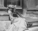 Consuelo Vanderbilt and Winston Churchill at Blenheim Palace, Woodstock, England, United Kingdom, 1902