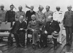Mackenzie King, Franklin Roosevelt, Winston Churchill, and Allied military leaders, Quebec, Canada, 18 Aug 1943