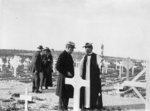 Anglican Bishop Rennie MacInnes and Winston Churchill at Mount Scopus, Jerusalem, Palestine, 26 Mar 1921