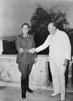 Josip Tito and Winston Churchill in Yugoslavia, circa early 1940s