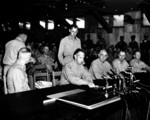 General Mark Clark signing the Korean War Armistice, 27 Jul 1953, photo 2 of 2