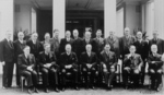 Prime Minister John Curtin and his ministry, Government House, Canberra, Australia, 1941