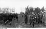 Daluege, Lankenau, and Bomhard reviewing police forces, Bremen, Germany, 23 Apr 1937, photo 2 of 2