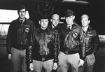 James Doolittle with his crew shortly before the Doolittle Raid against Japan, Apr 1942