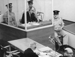 Eichmann on trial in Israel, 29 May 1961; note he was given a bullet-proof booth during the trial process