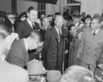 US President-elect Dwight Eisenhower speaking to reporters, White House, Washington DC, United States, 18 Nov 1952