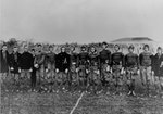 US Military Academy football team, 1912; note Dwight Eisenhower second from left and Omar Bradley second from right