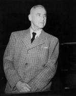 Wilhelm Frick at the Nuremberg War Crimes Trials, Germany, 1945-1946