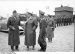 German Luftwaffe Bruno Loerzer, Hermann Göring, and Adolf Galland visiting an airfield in Belgium or France, Sep-Oct 1940