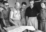 General Gordon Bennett of Australian 8th Division outlining current situations in Malaya to journalists, circa Jan 1942