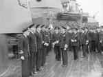 King George VI of the United Kingdom aboard HMS London at Scapa Flow, Scotland, United Kingdom, 16 Aug 1943