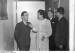 Goebbels and filmmaker Leni Riefenstahl, Germany, 25 Nov 1937
