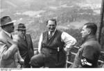 Adolf Hitler, Hermann Göring, and Baldur von Schirach at or near Kehlsteinhaus (Eagle