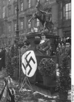Hermann Göring speaking at a military gathering, 18 Jan 1936