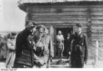 German Army Colonel General Heinz Guderian visiting a forward headquarters of an armor regiment, Russia, Aug 1941