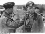 A German soldier saluting Colonel General Heinz Guderian, Russia, Jul-Aug 1941