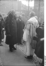 King Gustaf V of Sweden at a church service in Wilmersdorf, Berlin, Germany, Feb 1928