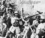 Haile Selassie manning anti-aircraft gun at Battle of Maychew, 31 Mar 1936