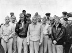 US Navy Vice Admiral William Halsey with his Aircraft Battle Force staff in late 1941 or with Task Force 16 staff in early 1942, aboard USS Enterprise