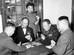 He Yingqin playing cards with others, date unknown