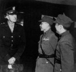 Albert Wedemeyer, He Yingqin, and another officer, Chongqing, China, Oct 1944