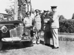 Major General Edmund Herring, Lieutenant General John Lavarack, Major General Leslie Morshead, and Major General Samuel Burston at the Gezira Sports Club, Cairo, Egypt, 11 Sep 1941