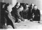 Hitler and German Army generals at Army Group South headquarters at Poltava, Ukraine, Jun 1942