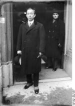 Japanese delegration member Koki Hirota at the second Hague Conference, the Netherlands, Jan 1930
