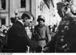 German Chancellor Adolf Hitler and German President Paul von Hindenburg, Potsdam, Germany, 21 Mar 1933