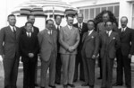 Kong Xiangxi (H. H. Kung) and Adolf Hitler, with Chinese and German diplomats at Berghof, Berchtesgaden, Germany, 13 Jun 1937
