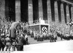 Nazi Party gathering outside the museum at Lustgarten, Berlin, Germany, 1 May 1936, photo 4 of 7