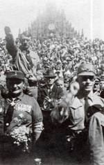 Hitler and Göring at a Nazi Party rally in Nuremberg