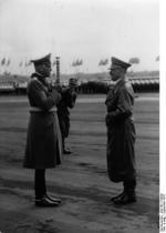 Field Marshal Blomberg offering the German Army for Hitler