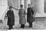 Ernst Gall, Adolf Hitler, and Albert Speer at Munich, Germany, 21 Mar 1936