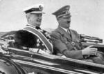 Regent Miklós Horthy of Hungary with Führer Adolf Hitler of Germany, circa late 1930s