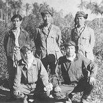 Japanese pilots Komachi, Tetsuzo Iwamoto, Tetsutaro Kumagai, and others, Feb 1944