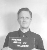 Mug shot of Prince Josias, Apr 1947