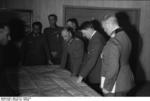 Hitler in a meeting with Keitel, Brauchitsch, and Paulus in Russia, early Oct 1941
