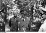 Adolf Hitler flanked by Werner Mölders, Wilhelm Keitel, and Hermann Göring, Wolf