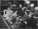 Göring, Heß, Ribbentrop, and Keitel at the Nuremberg Trials, 7 Feb 1946, photo 2 of 2