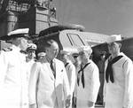 Capt Carlton Wright and Knox aboard USS Augusta off Bermuda, Sep 1941