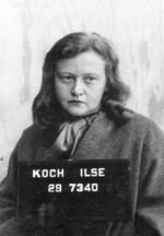 Mug shot of Ilse Koch, circa 30 Jun 1945