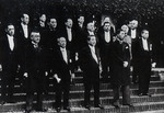 Japanese Prime Minister Fumimaro Konoe and his first cabinet, Tokyo, Japan, Jun 1937