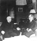 French Marshal Pétain and US Ambassador Leahy, Vichy, France, 27 Apr 1942