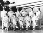 Rear Admiral Harold Stark with the commanders of his Cruiser Divisions and ships, probably aboard USS Honolulu, circa 1939