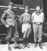 Lieutenant General Oliver Leese, General Harold Alexander, and Lieutenant General Mark Clark, Italy, 1944