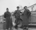 Brigadier General Boleslaw Duch, Lieutenant General Oliver Leese, and General Wladyslaw Anders, near Cassino, Italy, 17 Feb 1944